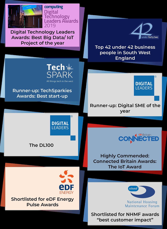 Digital Technology Leaders Awards; 42 under 42; TechSparkies Awards; Digital Leaders; DL100; Connected Britain Awards; eDF Awards; NHMF Awards